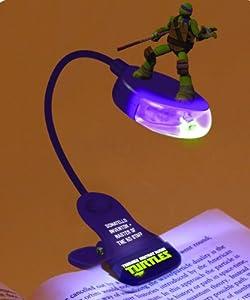 Joy Toy 00699 Turtles - Lámpara para lectura con figura en 3D y clip (aprox. 30 cm), diseño de tortuga ninja marca Joy Toy en BebeHogar.com