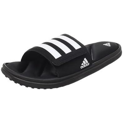 adidas Performance Men's Zeitfrei FF Slide Sandal, Core Black/White/Black, 11 M US