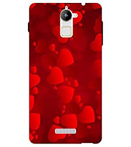Chiraiyaa Designer Printed Premium Back Cover Case for Coolpad Note 3 Lite (heart boy girl friend valentine miss kiss red) (Multicolor)