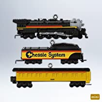 Hallmark Keepsake 2012 Chessie Steam Special - Set of 3 Miniature Lionel Train Ornaments - #QXM9011