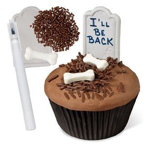 easy graveyard cupcakes
