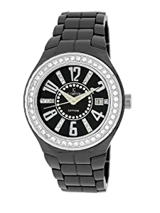 Le Chateau Women's 5871ws_blk Persida LC Ceramic Watch