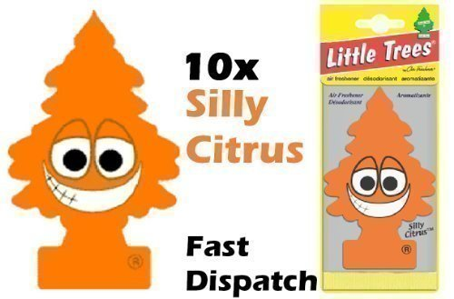 magic-tree-little-tree-silly-citrus-fragrance-car-air-freshener-pack-of-10