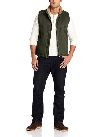 Wolverine Men's Upland Sherpa Lined Vest, Dark Olive, X-Large