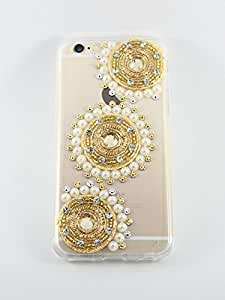 Sony Xperia C5 Handcrafted Designer Bling 3D Triple Golden Circle Acrylic Case by Kiintymys