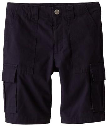 Kitestrings Big Boys' Cotton Ripstop Cargo Pocket Short, Navy, 10