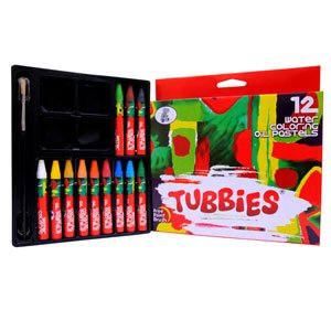 Tubbies Water Coloring Oil Pastels | Pack Size 12