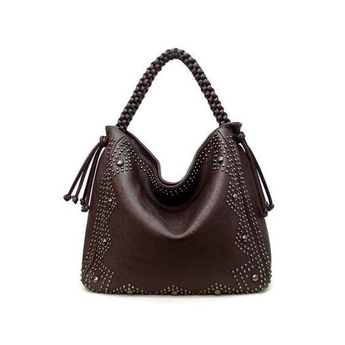 120686 brown MyLUX Close Out High Quality Women/Girl Fashion Designer Work School Office Lady Student Handbag Shoulder Bag Purse Totes Satchel Clutches Hobos