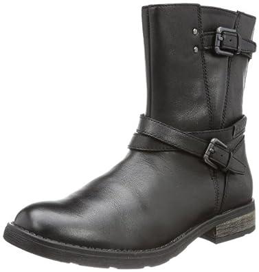 Geox J SOFIA P J34D3P00043C9999, Mädchen Biker Boots, Schwarz (BLACK C9999), EU 29