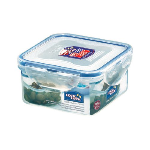 Lock&Lock, 14-Oz / 1.75-Cup, Square Food Container Storage, Short