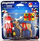 Santa With Rain Deer Christmas Play Pack