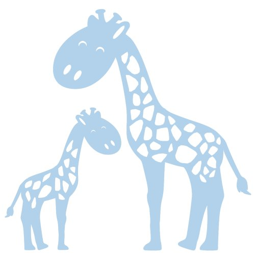 Giraffe Decal Wall Stickers: Easily Change Your Room Decor Without Damaging Walls Or Painting // Decoration For The Kids Room, Nursery Decor Or Any Fun Child'S Space // Liven Up A Wall With Cheerfulness