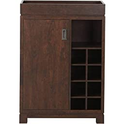 Wine Cabinet with Removable Tray, Brown