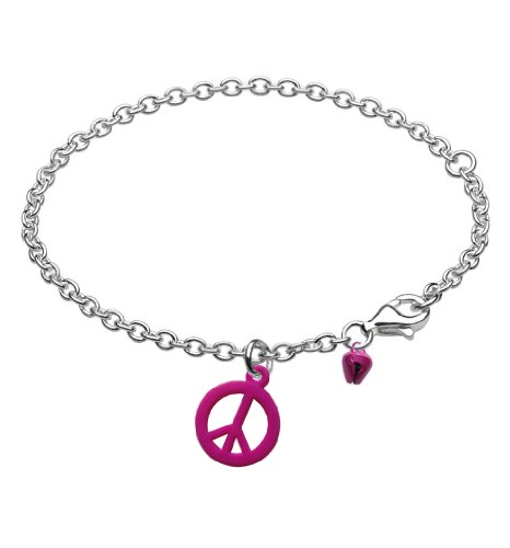 Kids Friendship Peace Bracelet Anklet with Bell Cherry