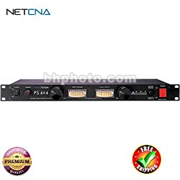 PS 4x4 Rackmount 8 Outlet Power Conditioner & Surge Protector - with Linear Ammeter & Voltmeter & Dual Lights With Free 3 Feet NETCNA HDMI Cable - BY NETCNA