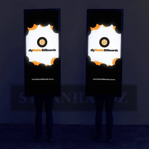 Stnanhai Bestselling,Indoor/Outdoor Led Moving Display Billboard,Walking Black Battery Powered With Lithium Battery