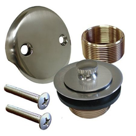 brushed nickel conversion kit bathtub tub drain assembly