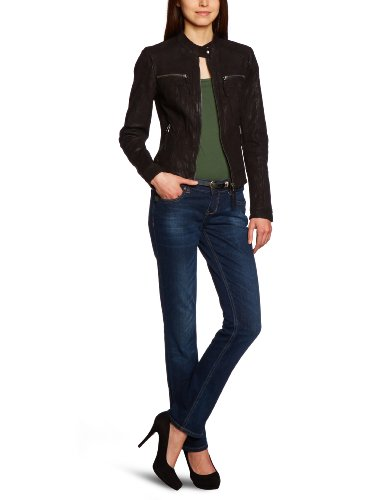 vero moda damen jacke 10089268 elvira short leather jacket. Black Bedroom Furniture Sets. Home Design Ideas