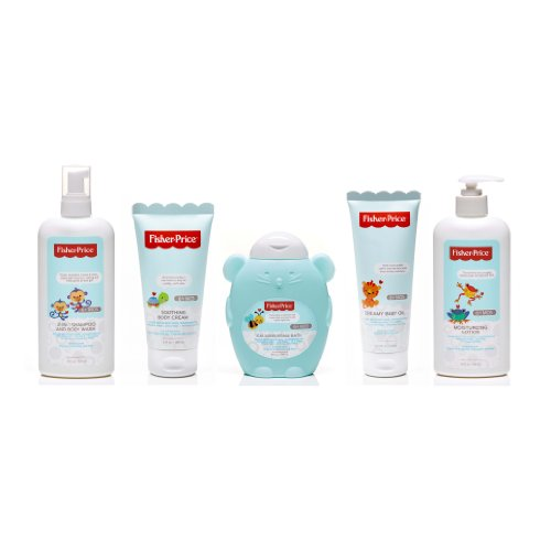 Fisher-Price Infant Bath and Body 5 Piece Variety Gift Set - 1