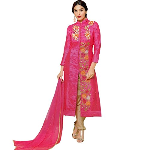 Designer-Rich-Embroidery-Handwork-Cotton-Salwar-Kameez-Suit-Indian