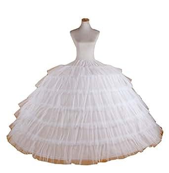 White Super Big 7 Hoop Wedding Bridal Prom Petticoat