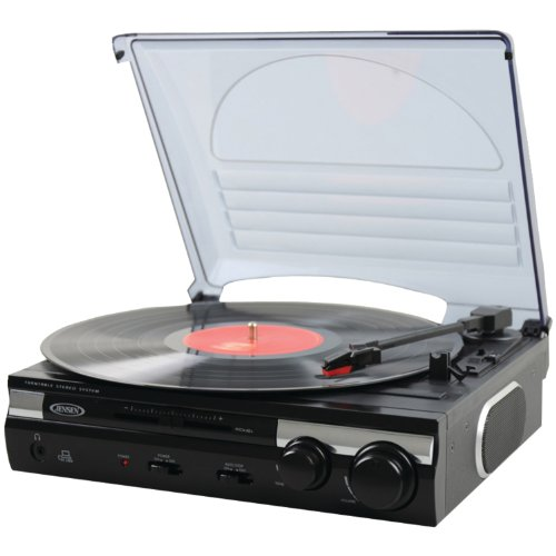 Great Deal! Jensen JTA-230 3 Speed Stereo Turntable with Built In Speakers, Software to Convert Reco...