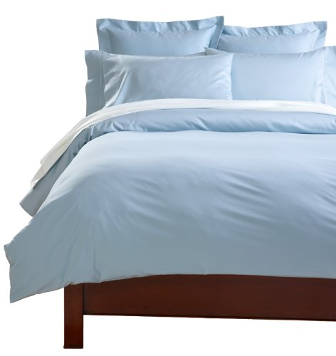 Cuddledown 400 Thread Count Comforter Cover, Over Size King, Azure front-827413