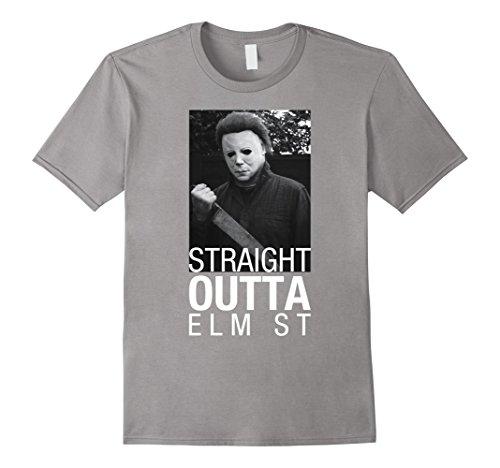 [Men's The Shape Horror Freak Halloween Costume Party Gift T-shirt 3XL Slate] (Easy Male Halloween Costumes Homemade)