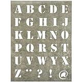 Ib Laursen - Zinktafel Buchstabenschablone groß (4002-18)