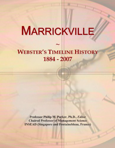 Marrickville: Webster's Timeline History, 1884 - 2007