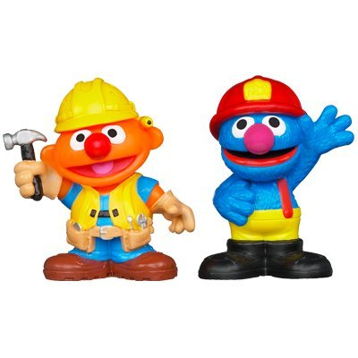 Playskool Sesame Street Friends at Work Ernie & Grover Figures 2-pack