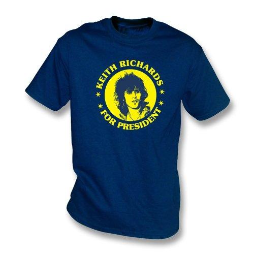 keith-richards-pour-le-president-t-shirt-large-marine-de-couleur