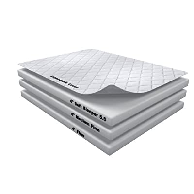 12 Inch Soft Sleeper 5.5 RV/Truck Mattress Bed With 4 Inches of Visco Elastic Memory Foam Assembly Required USA Made sourcing is Soft Sleeper Visco Elastic Memory Foam