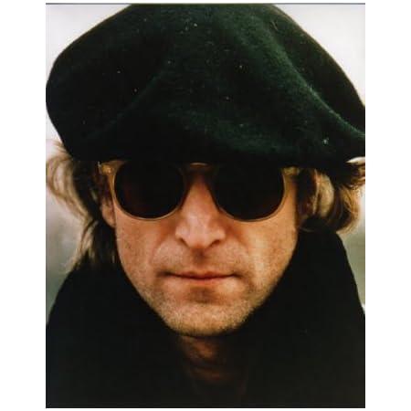 ブロマイド写真★ジョン・レノン John Lennon/カラー/サングラスに帽子アップ/ザ・ビートルズ The Beatles