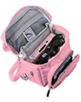 FoneM8® - Pink Travel Bag Carry Case For New 2015 Nintendo 3DS, 3DS XL also Fits all other versions Of DS, DS Lite, DSi, DSi XL, 3DS and 3DS XL (Pink)