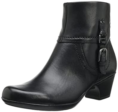 Clarks Women's Ingalls Tweed Bootie,Black Leather,8 M US