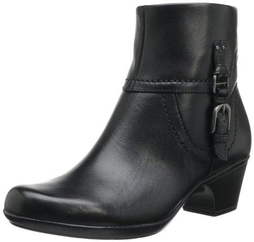 Clarks Women's Ingalls Tweed Bootie,Black Leather,8 M US