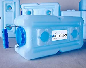WaterBrick 3.5 Gallon BPA FREE Portable and Stackable - 10 Pack by WaterBrick