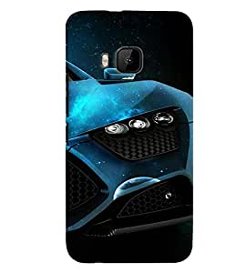 Fuson Premium Need For Speed Printed Hard Plastic Back Case Cover for HTC One M9