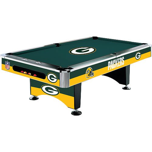 NFL Team Logo 8 Foot Pool Table WITH Logo Felt