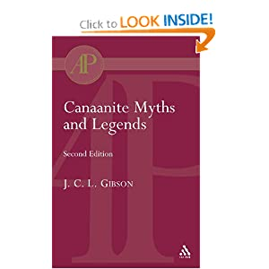 Canaanite Myths and Legends  - John C. Gibson