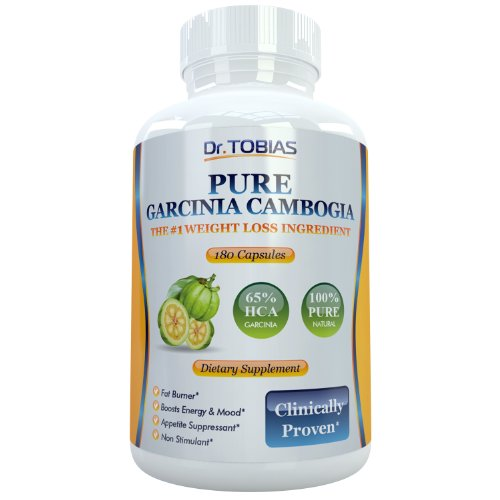 Pure Garcinia Cambogia Extract - 180 Capsules For Effective Weight Control And Weight Loss. 65% Hca (Hydroxycitric Acid) Plus Potassium For Optimal Absorption. Super Powerful Fat Burner And Appetite Suppressant Made From The Best Weightloss Ingredient. 15