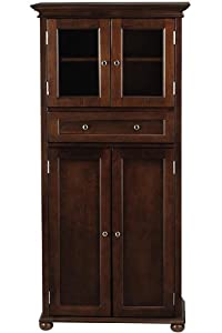 Hampton bay 1 drawer tall cabinet 4 door - Tall bathroom storage cabinets with doors ...