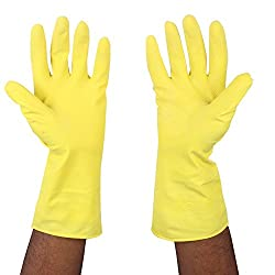 Lowprice OnlineTM REUSABLE LATEX RUBBER HAND GLOVES for Household / Kitchen / Washing/Chemicals (Pairs)