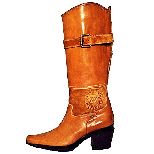 PACIOTTI 4US Women's Leather Boots Brown US 6.5