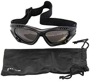 Army Tactical Commando Air Pro Goggles Airsoft Tinted Black from Mil-Tec