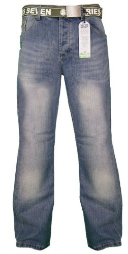 New Loyalty & Faith 'Series 7' Mens Bootcut Denim Jeans - Stonewash - Waist Size - 30