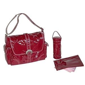 Burgundy Corduroy Diaper Bag