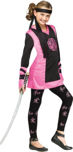 Dragon Ninja Child Costume 4-6 Kids Girls Costume