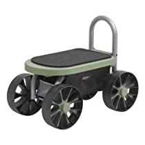 Big Sale Easy-Up™ ATV By Vertex® - Rolling Garden Storage Seat With Heavy Duty 10 x 3 Wheels And Padded Seat
